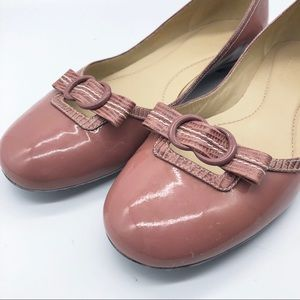 Cole Haan Blush Bow tie Leather Flats 7.5